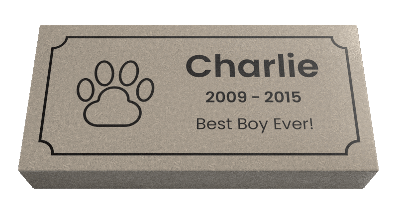 Deluxe <span> Pet Memorial Stones, Gravemarkers, Headstones for Dogs, Cats, and other pets | 7,000 PSI Engineered Limestone</span>